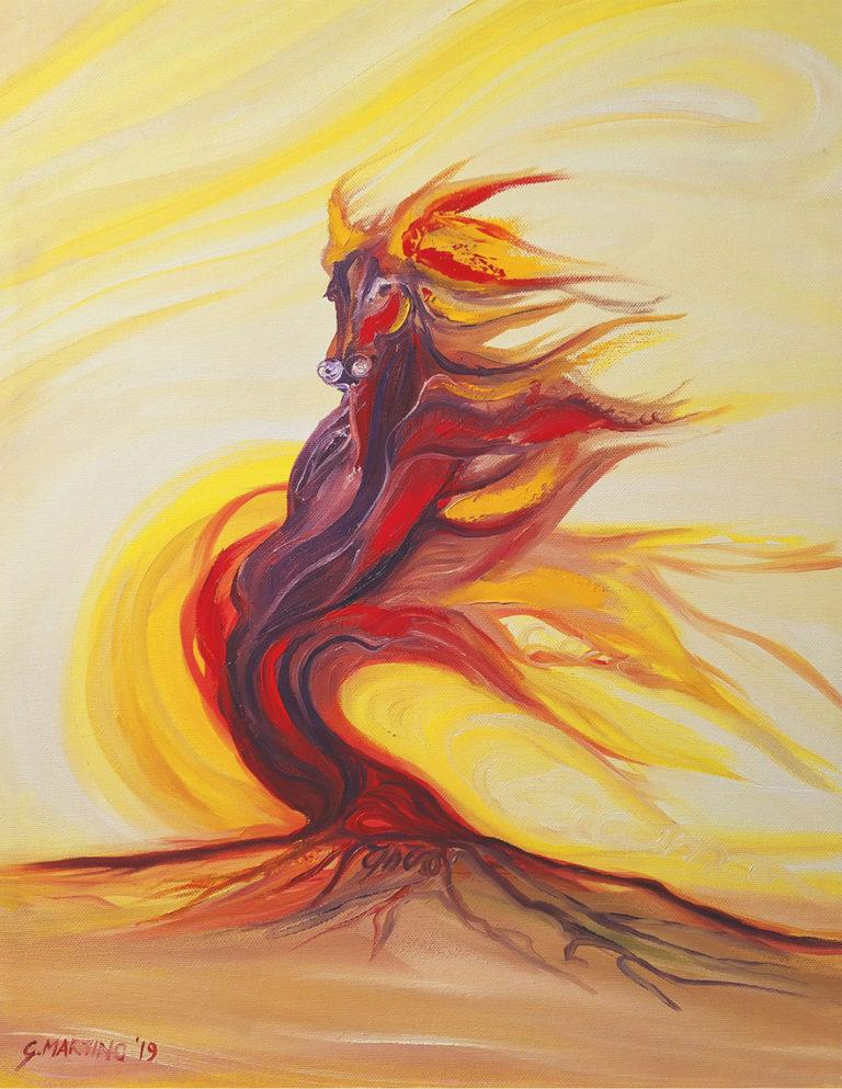 cavallo-istinto-onda-fuoco-albero-40×50